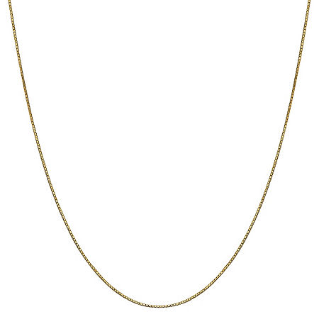 14K Gold 14 Inch Solid Box Chain Necklace, One Size , No Color Family