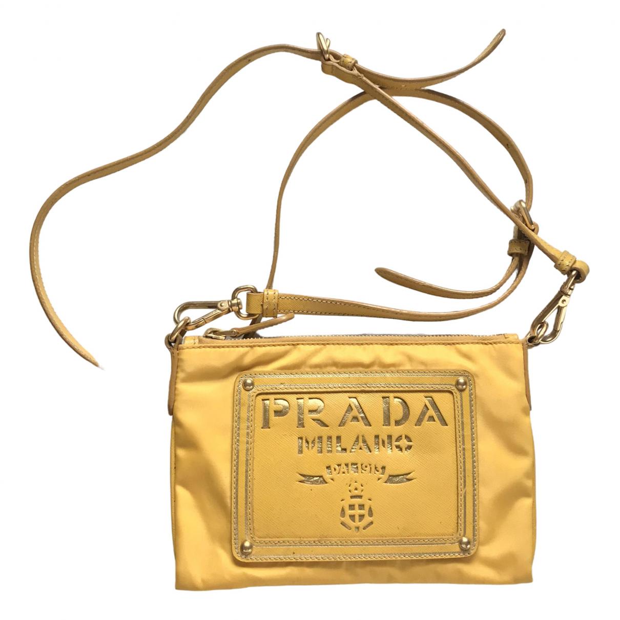 Prada \N Handtasche in  Gelb Polyester