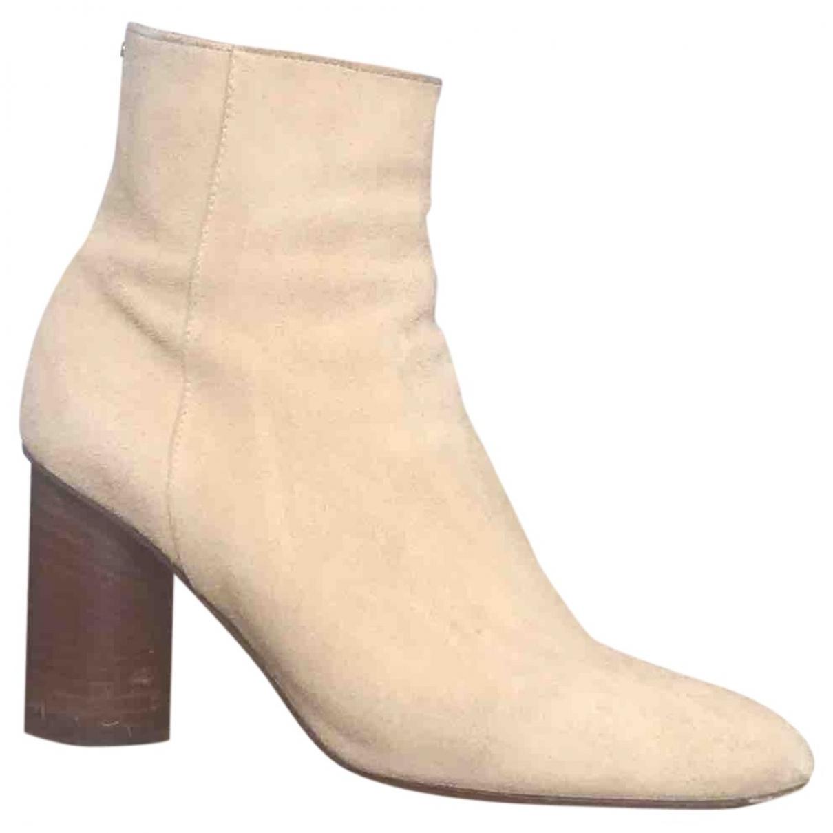 Jerome Dreyfuss \N Beige Suede Ankle boots for Women 38 EU