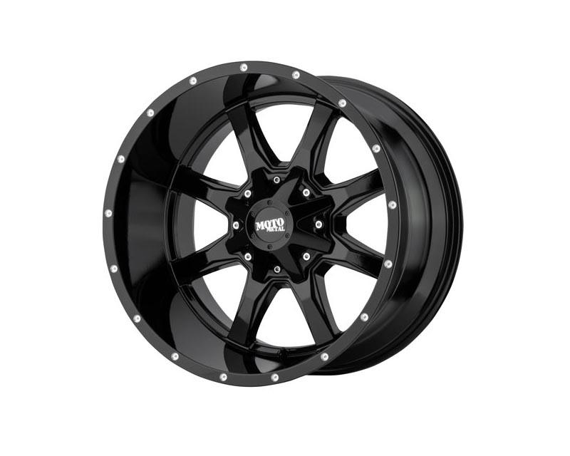 Moto Metal MO970780873A00US MO970 Wheel 17x8 8x170 0 Gloss Black With Milled Lip