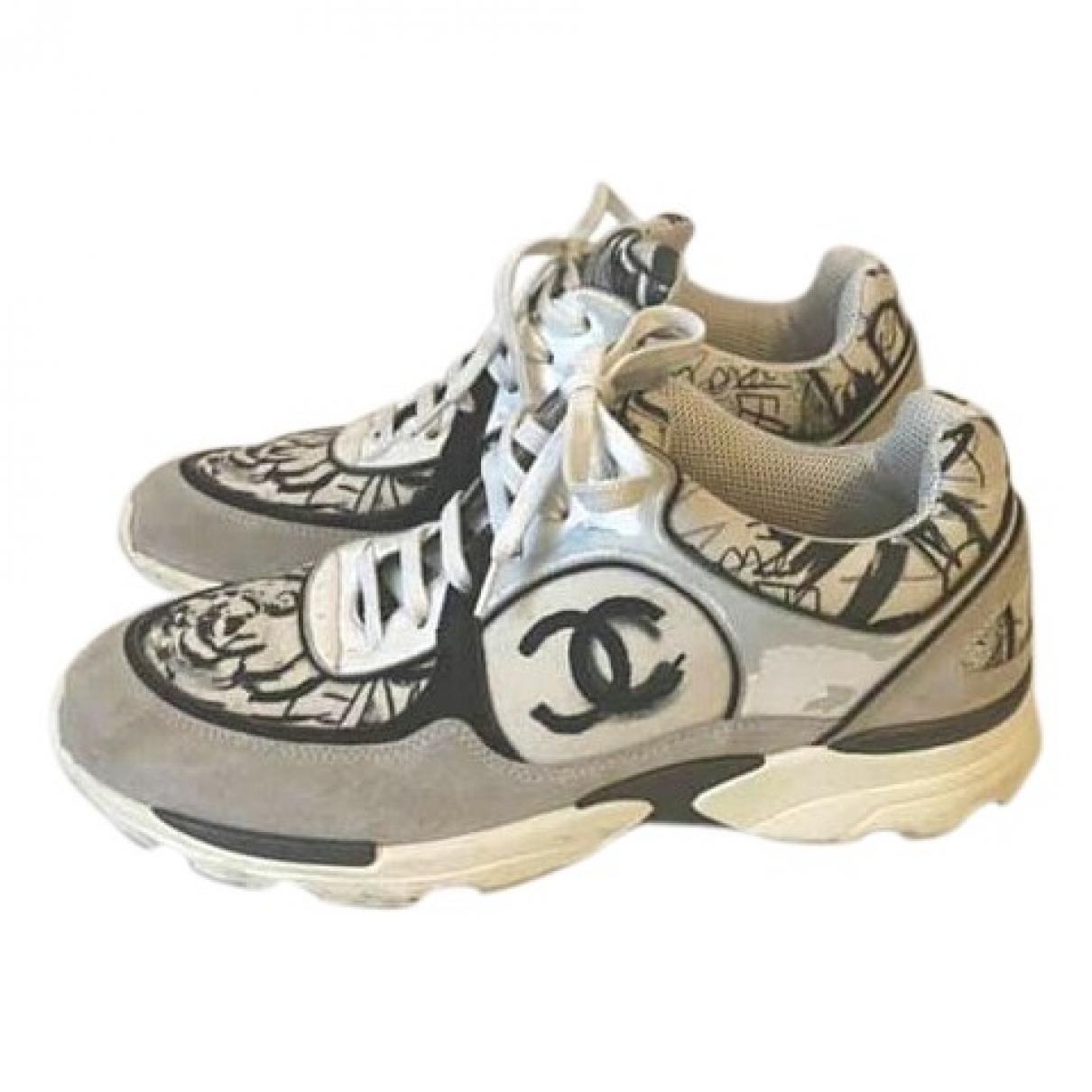 Chanel \N Sneakers in  Ecru Leinen