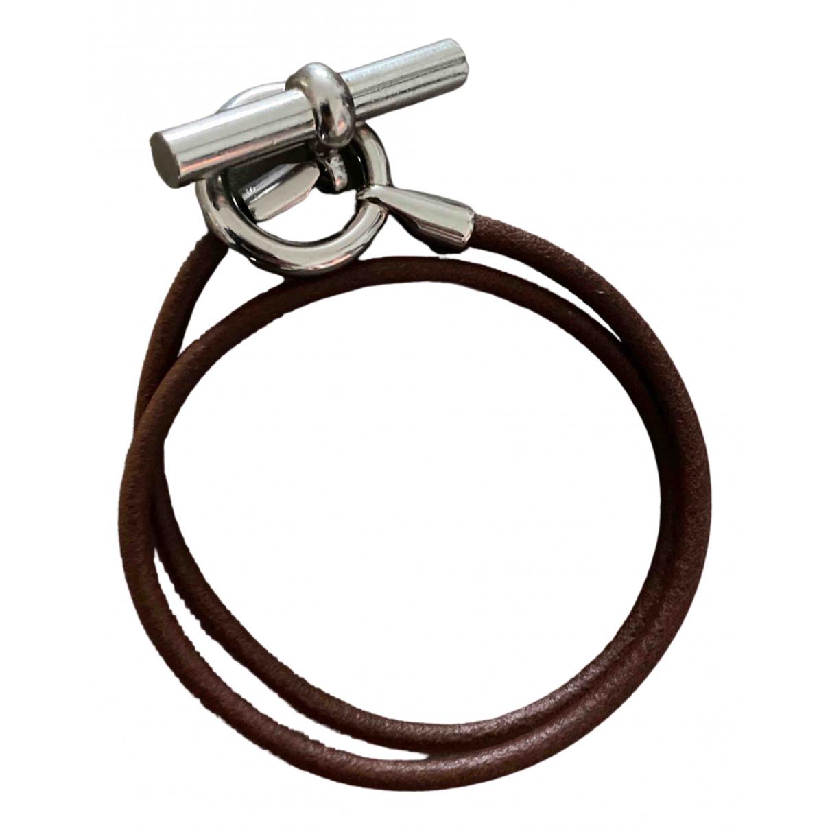 Hermès Skipper Brown Silver bracelet for Women N