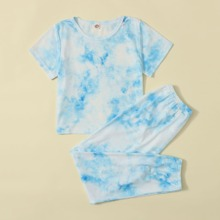 Girls Tie Dye PJ Set