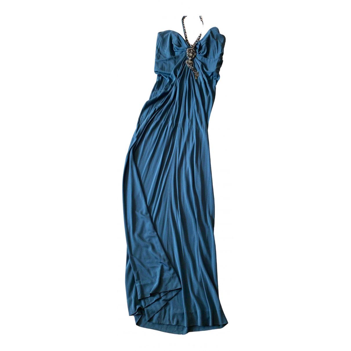 Azzaro \N Kleid in  Blau Viskose