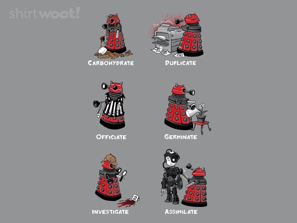 Busy Little Dalek T Shirt