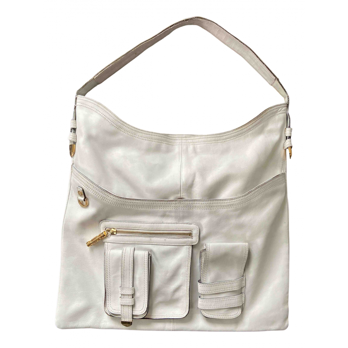 Versace N White Leather handbag for Women N