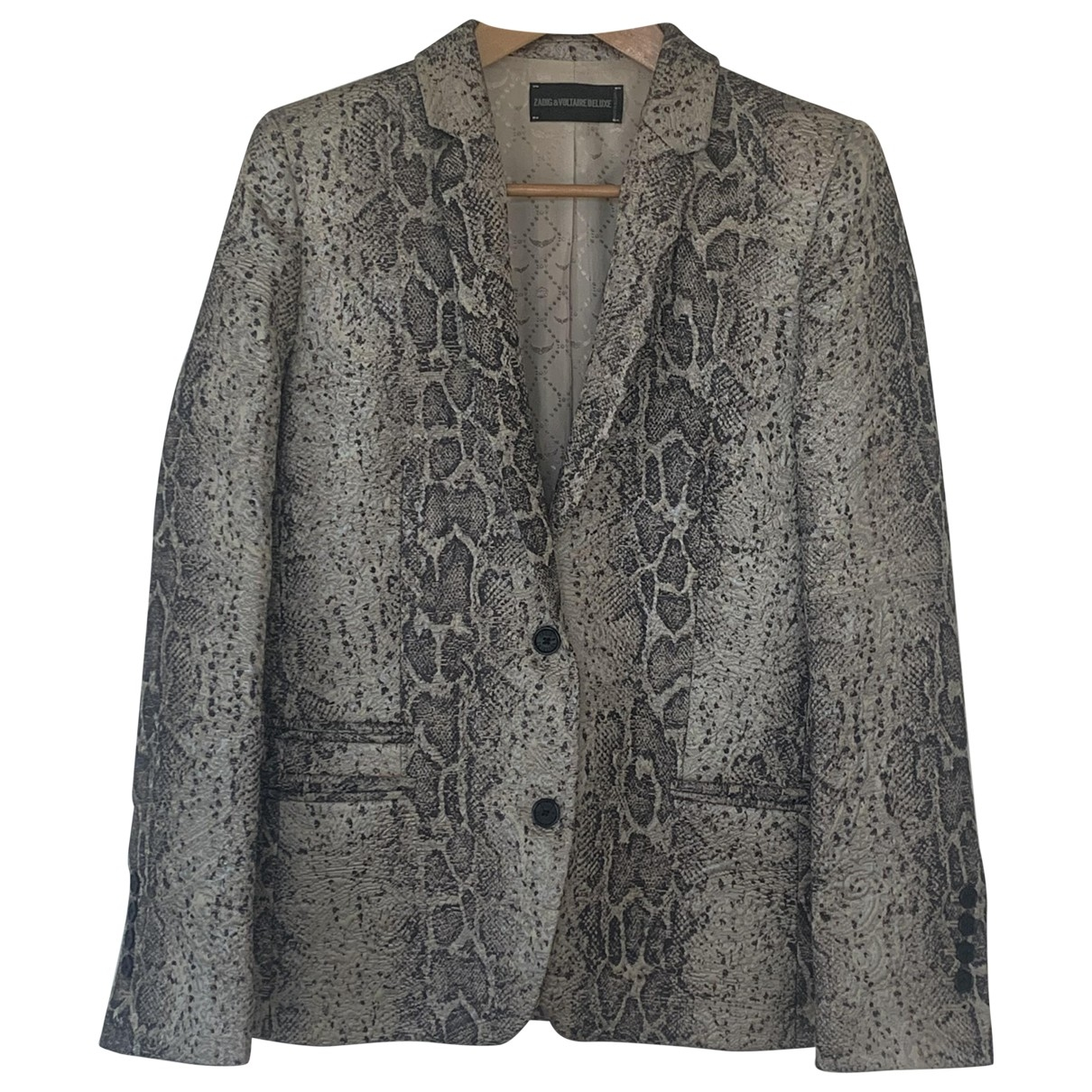 Zadig & Voltaire \N Silver Cotton jacket for Women 38 FR