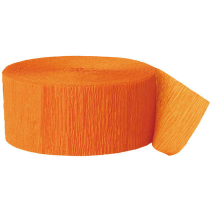 Party Streamer Party Decorations Crepe Paper 81 ft - Orange