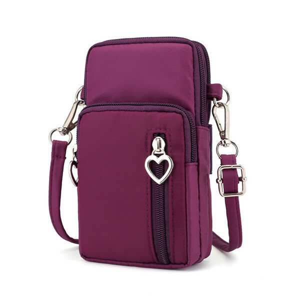 Women Nylon Water Resistant Crossbody Bags Multi-function Phone Bags