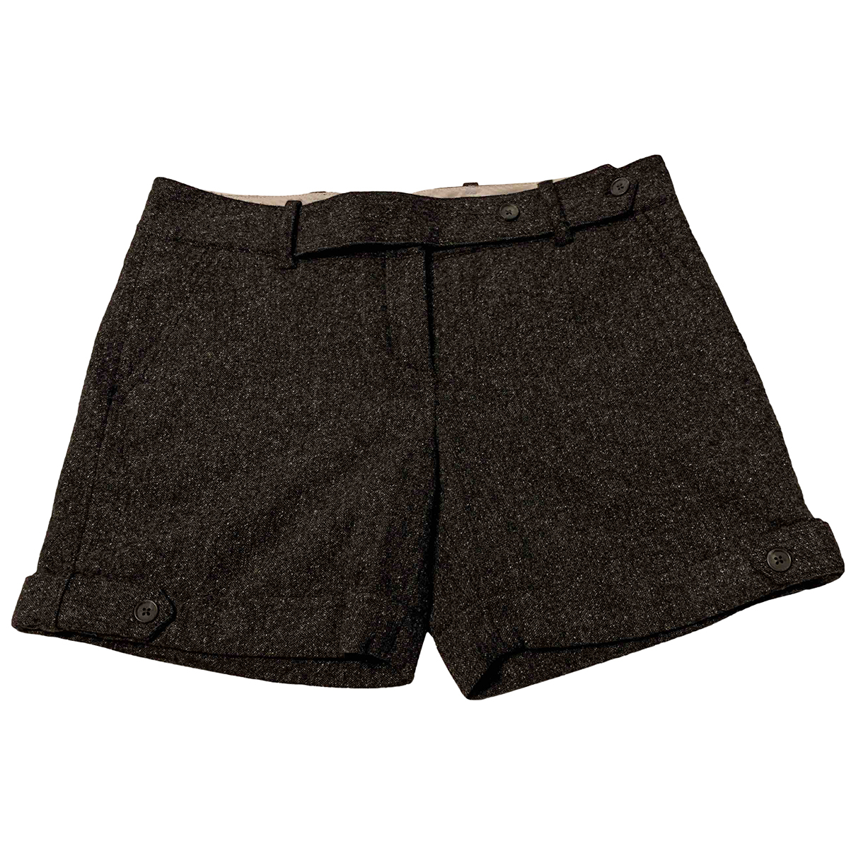 Tommy Hilfiger N Anthracite Wool Shorts for Women 6 US