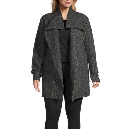 Stylus Boucle Lightweight Jacket-Plus, 1x , Gray