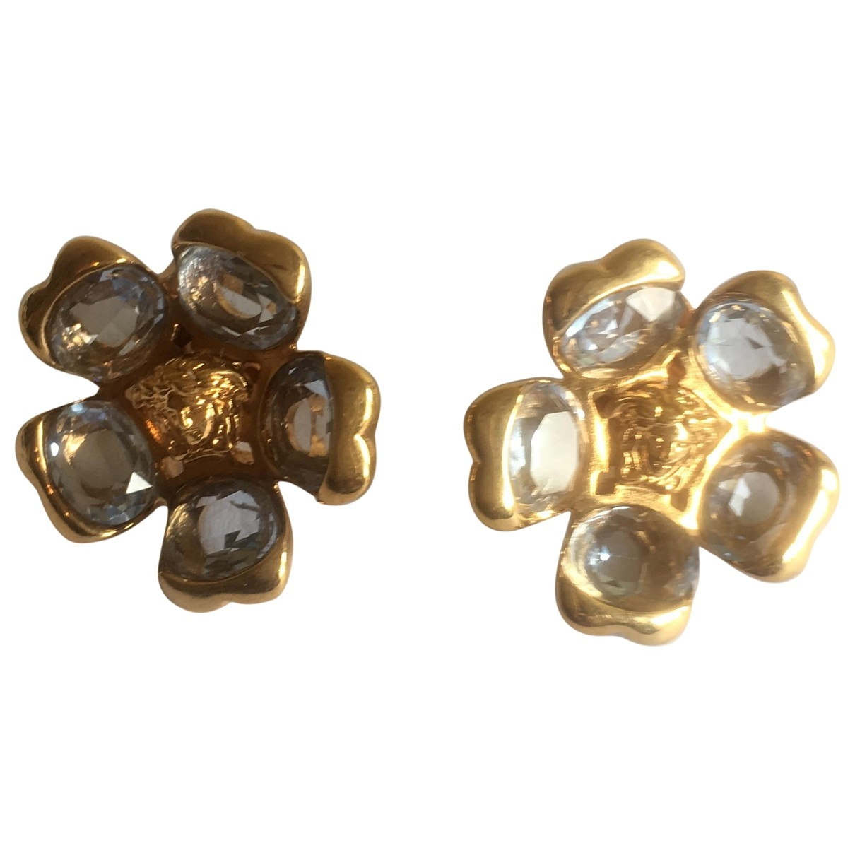 Versace \N OhrRing in  Gold Metall