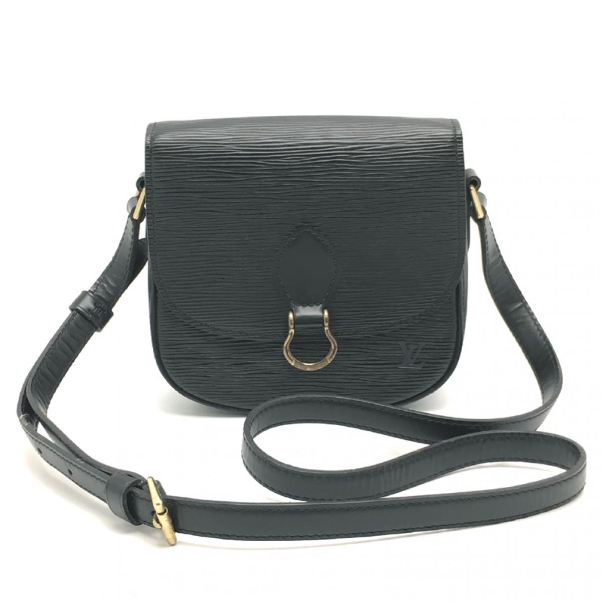 Louis Vuitton - Sac a main Saint Cloud vintage pour femme en cuir - noir