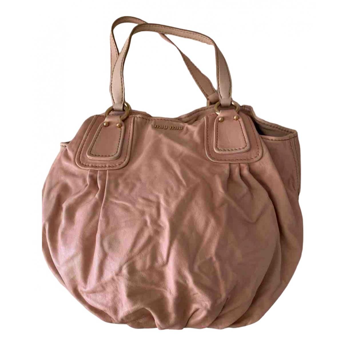 Miu Miu N Pink Leather handbag for Women N