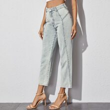 Light Wash Carrot Cropped Jeans