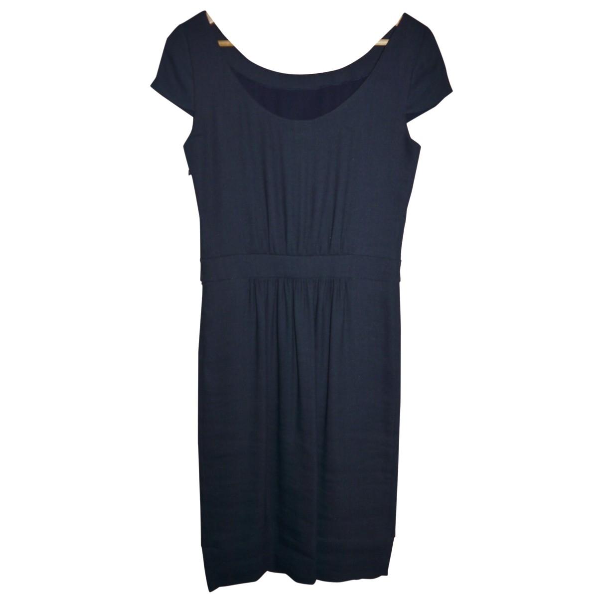 Emporio Armani \N Blue Linen dress for Women 42 IT