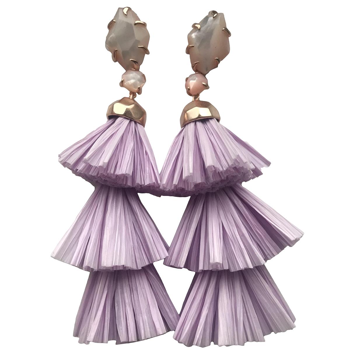 Non Signé / Unsigned N Purple Metal Earrings for Women N