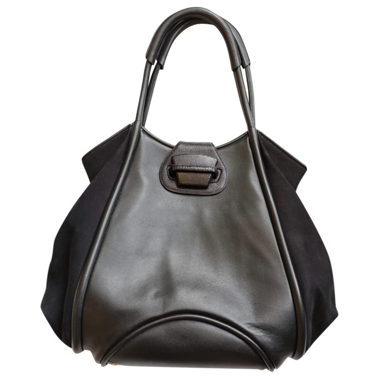 Smythson \N Black Leather handbag for Women \N