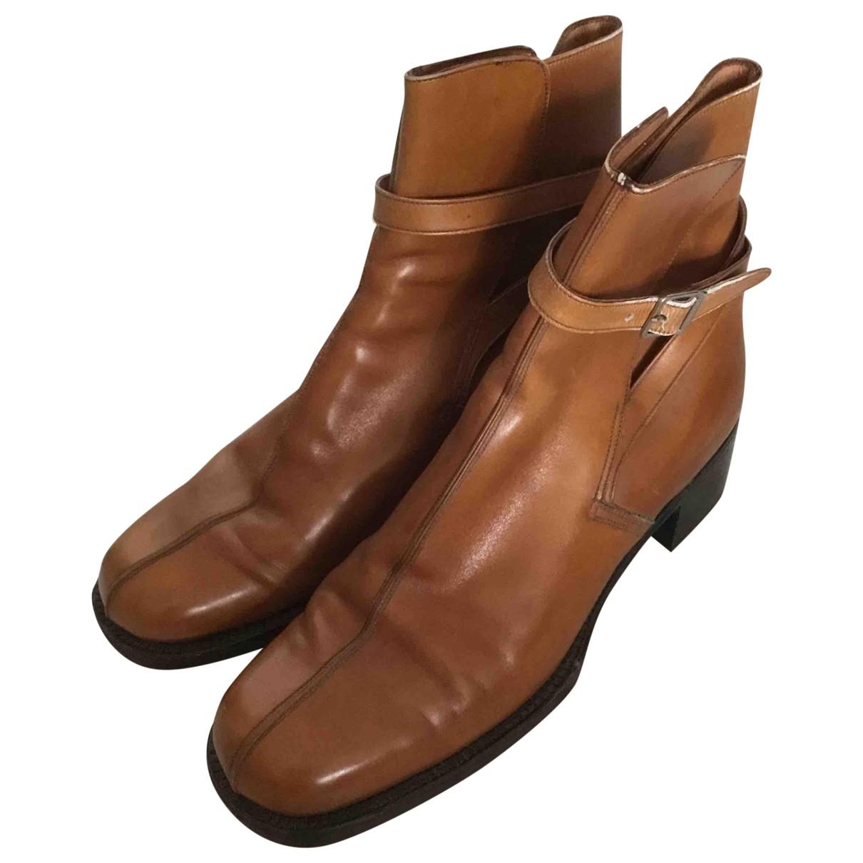 Jm Weston - Boots   pour femme en cuir - marron