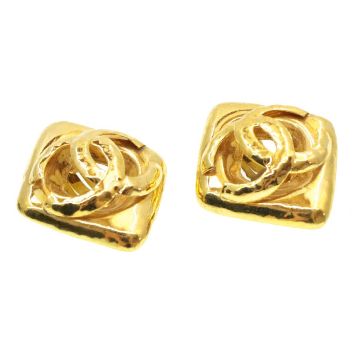 Chanel N Gold Metal Earrings for Women N