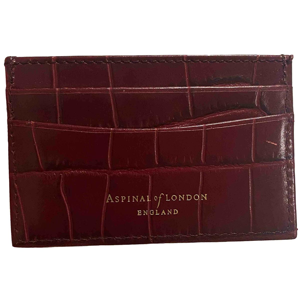 Aspinal Of London - Portefeuille   pour femme en cuir - bordeaux