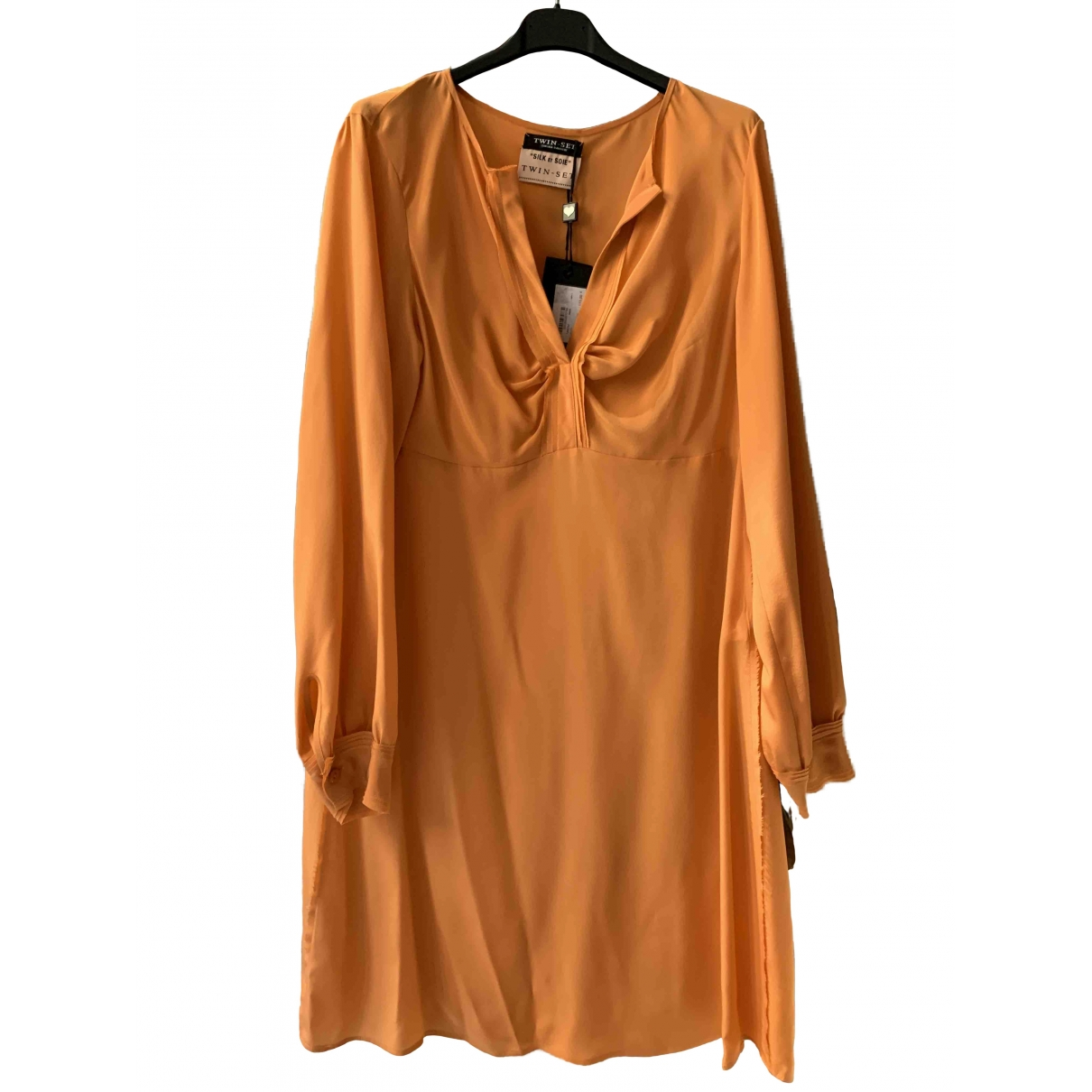 Twin Set - Robe   pour femme en soie - orange