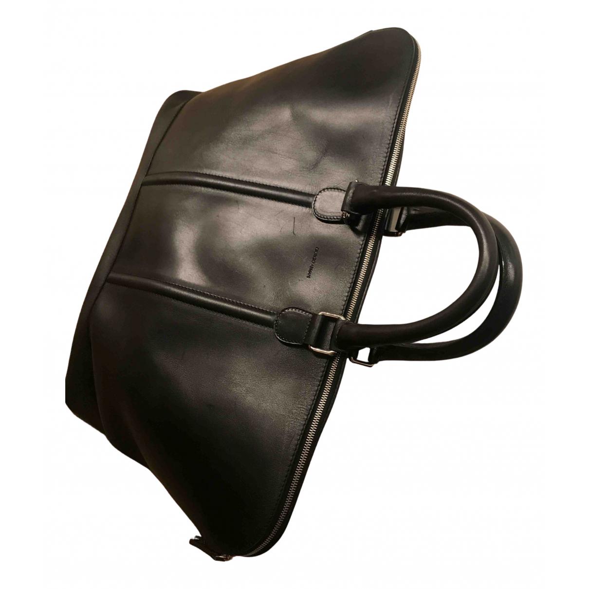 Giorgio Armani - Sac   pour homme en cuir - noir
