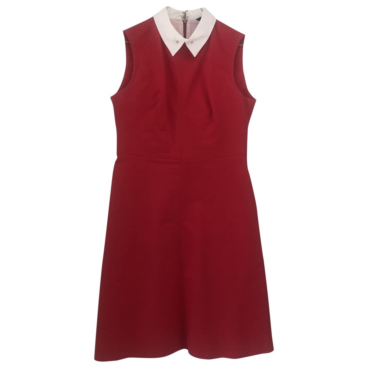 Tara Jarmon \N Red Cotton - elasthane dress for Women 38 FR