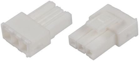 TE Connectivity , Power Double Lock Male Connector Housing, 3.96mm Pitch, 4 Way, 2 Row (25)