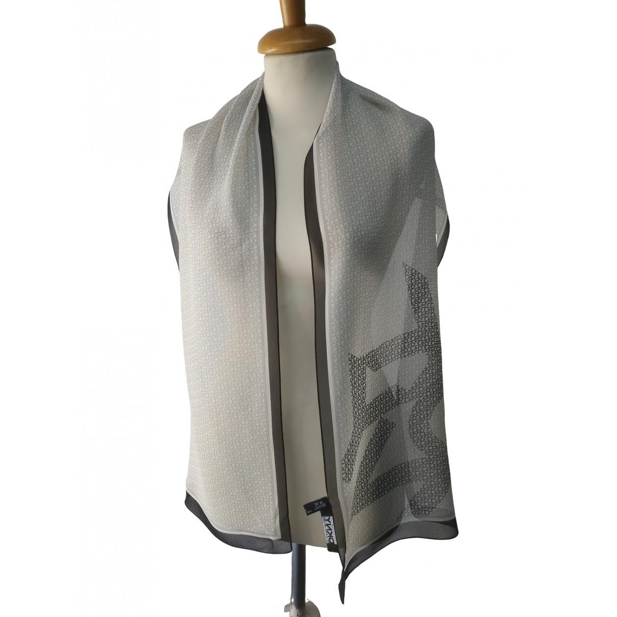 Dkny - Foulard   pour femme en soie - blanc