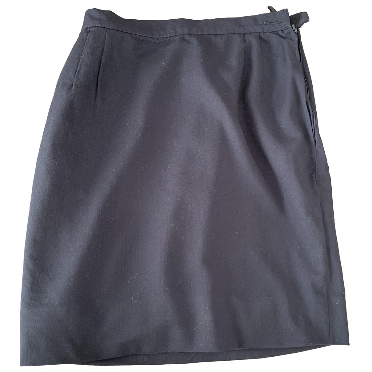 Valentino Garavani \N Blue Wool skirt for Women 36 FR