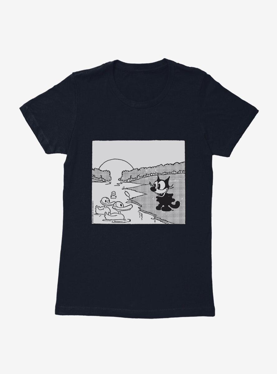Felix The Cat Feeding The Ducks Womens T-Shirt