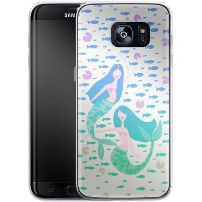 Samsung Galaxy S7 Edge Silikon Handyhuelle - Mermaids Turquoise von Cat Coquillette