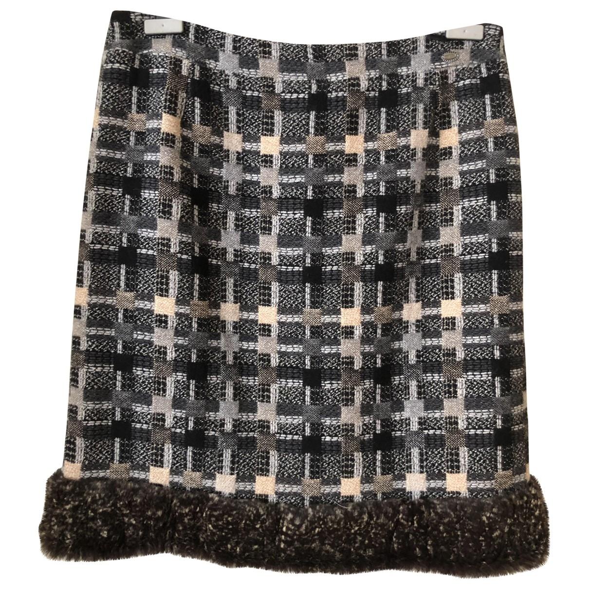 Chanel \N Rocke in  Anthrazit Wolle