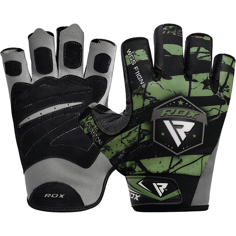 RDX F11 Gants de Musculation 2X Grande  Vert Lycra