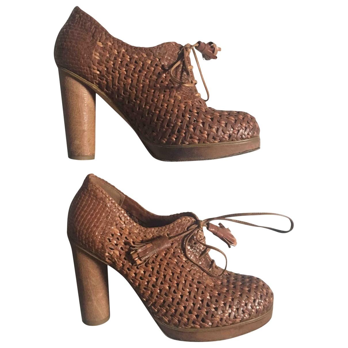 Nicole Farhi \N Brown Leather Heels for Women 37 EU