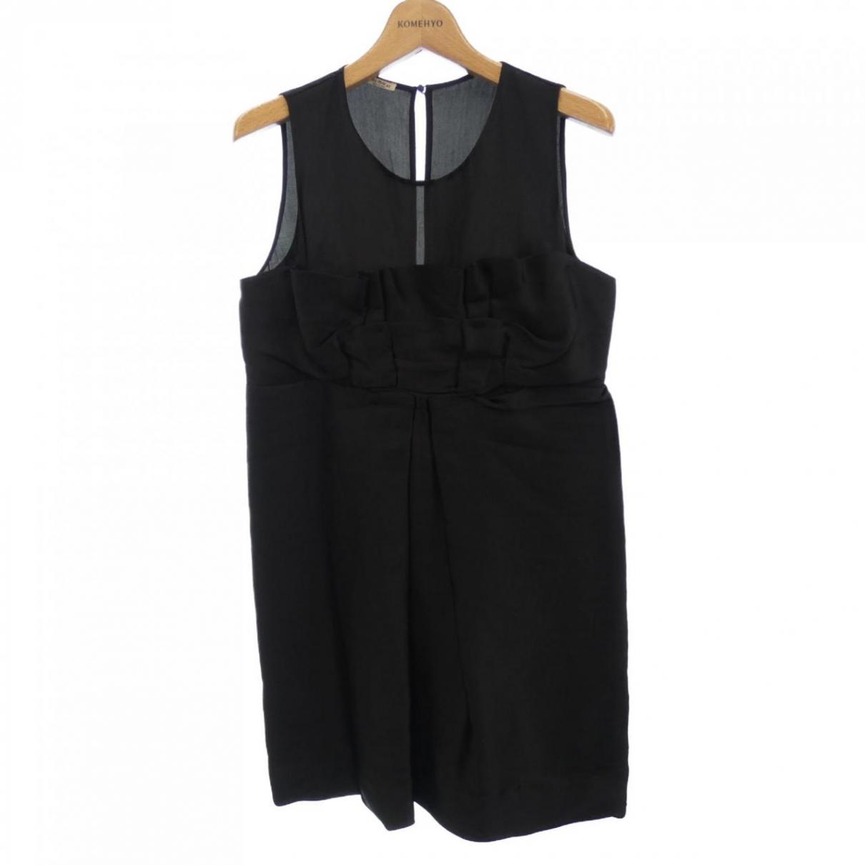Miu Miu \N Black Silk dress for Women 42 IT