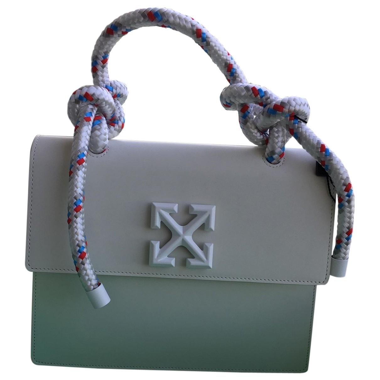 Off-white Meteor 2.8 Jitney White Leather handbag for Women \N