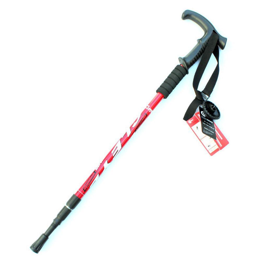 Walking Sticks Aluminum Alloy Crutches Mountaineering Sticks Three Section Walking Sticks Outdoor Hiking Supplies