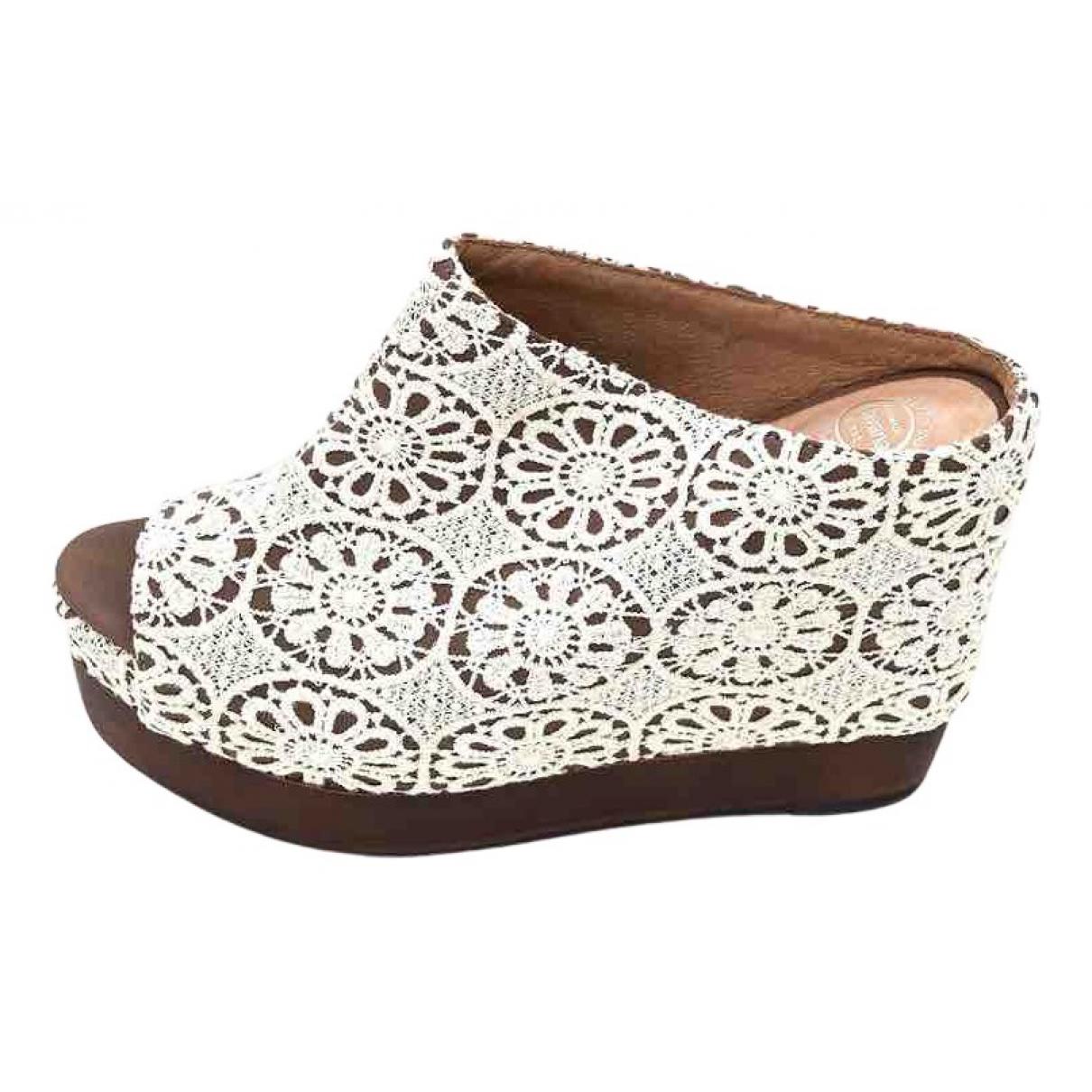 Jeffrey Campbell - Boots   pour femme en cuir - blanc