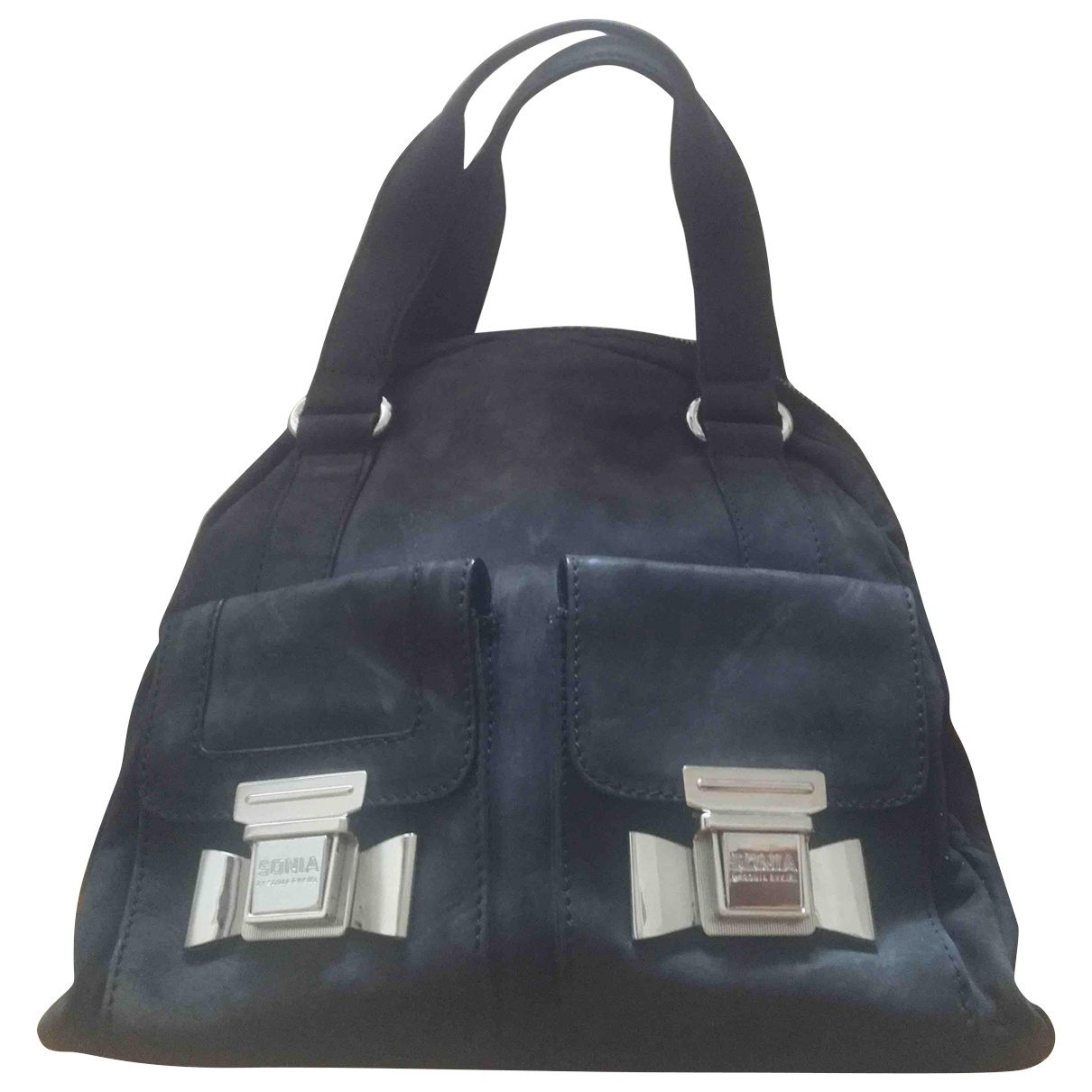 Sonia By Sonia Rykiel - Sac a main   pour femme en suede - anthracite