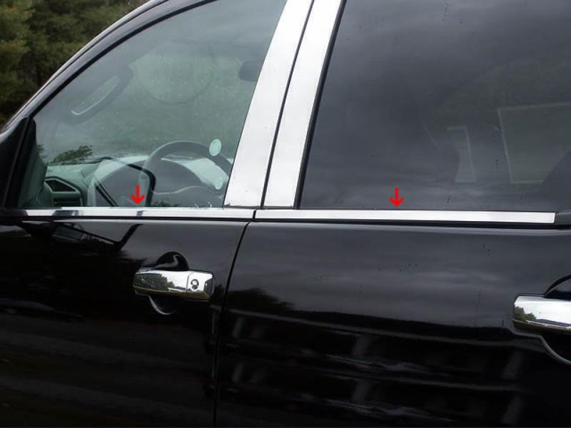 Quality Automotive Accessories 1.25 Inch Width Window Sill Trim Set Nissan Crew Cab Titan 04-15