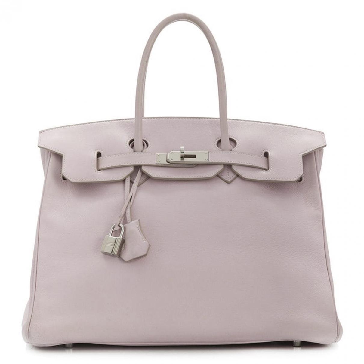 Hermes Birkin 35 Handtasche in  Rosa Leder
