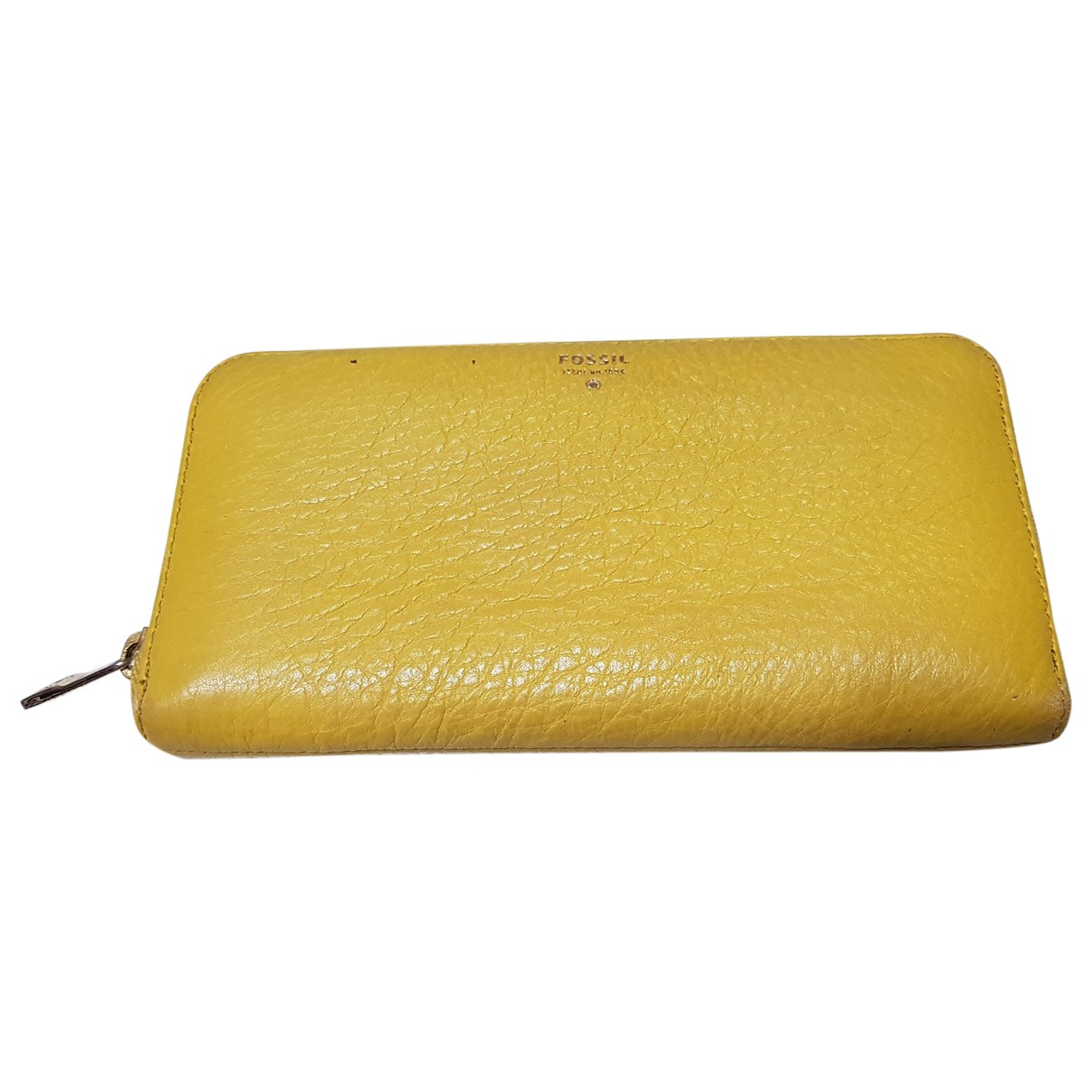 Fossil N Yellow Leather wallet for Women N