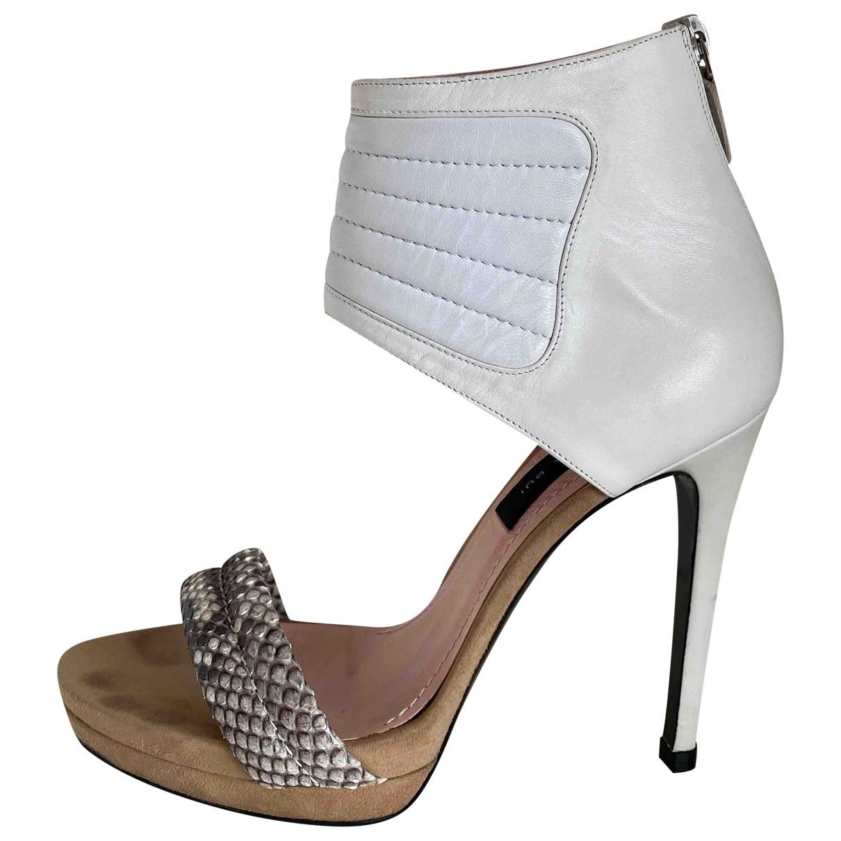 Barbara Bui \N White Water snake Sandals for Women 37.5 EU