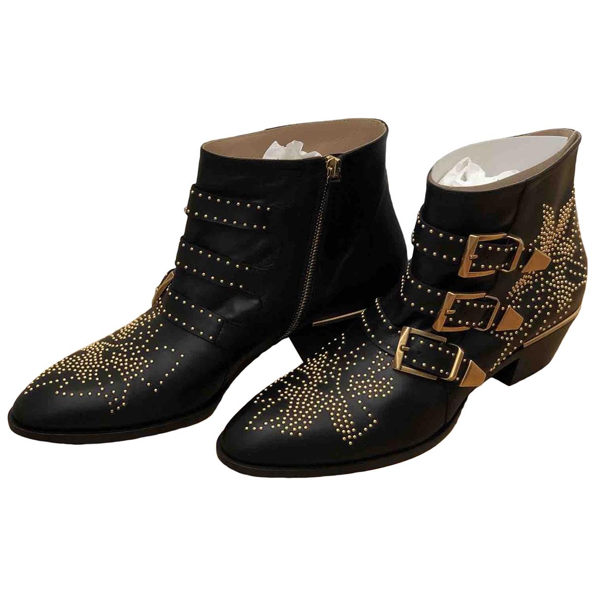 Chloe - Boots Susanna pour femme en cuir - noir