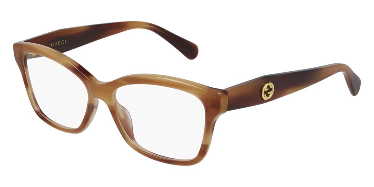 Gucci GG0798O 006 Women's Glasses Tortoise Size 55 - Free Lenses - HSA/FSA Insurance - Blue Light Block Available