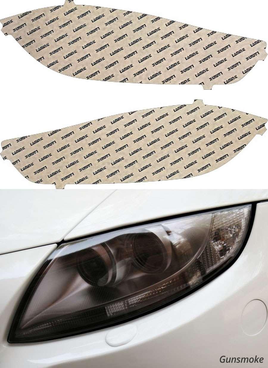 Dodge Dart 13-16 Gunsmoke Headlight Covers Lamin-X D026G