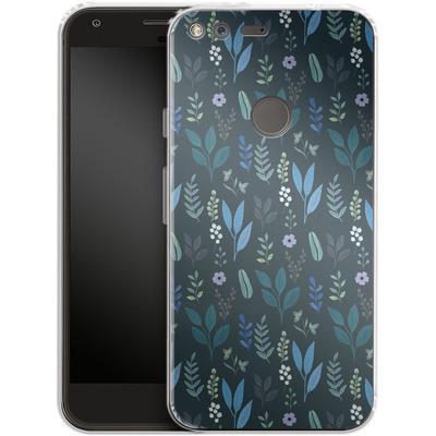 Google Pixel Silikon Handyhuelle - Blue Foliage von Iisa Monttinen