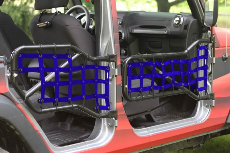 Steinjager J0043668 Doors, Covers Wrangler JK 2007-2018 Front and Rear Doors Blue Cargo Design